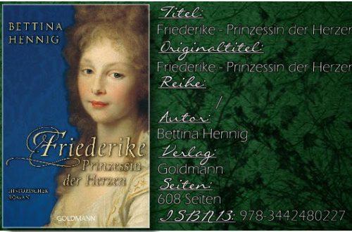 Friederike - Prinzessin der Herzen von Bettina Hennig