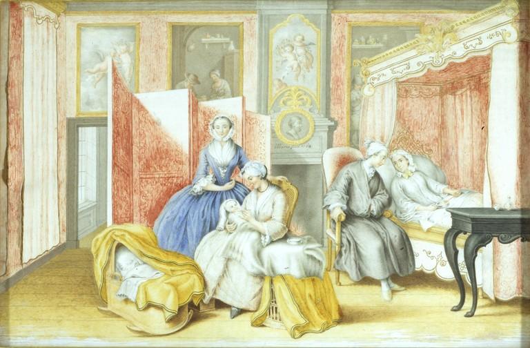 Wochenbettaquarell von Maria Christina