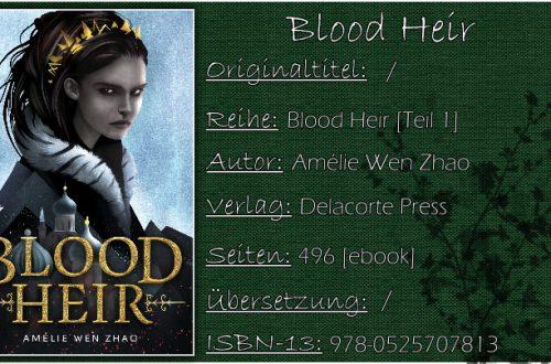 Blood Heir von Amélie Wen Zhao