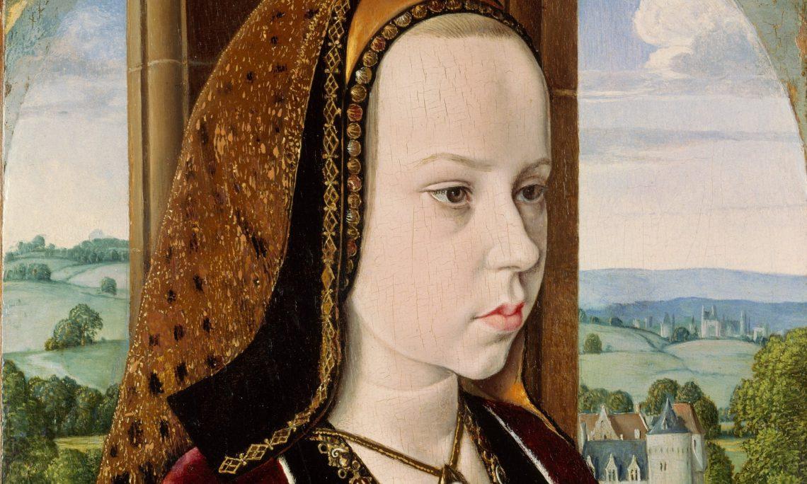Margarete von Österreich als Verlobte des künftigen französischen König Franz I. Gemalt von Jean Hey, etwas 1490.