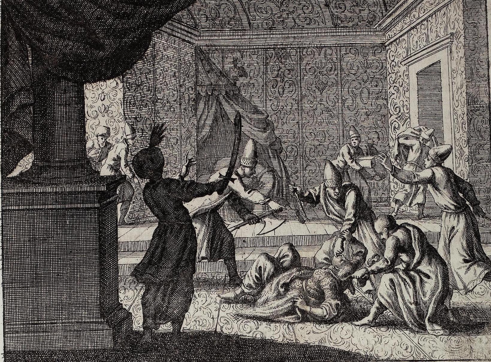 Künsterlische Darstellung des Ermordung Kösem Sultans
