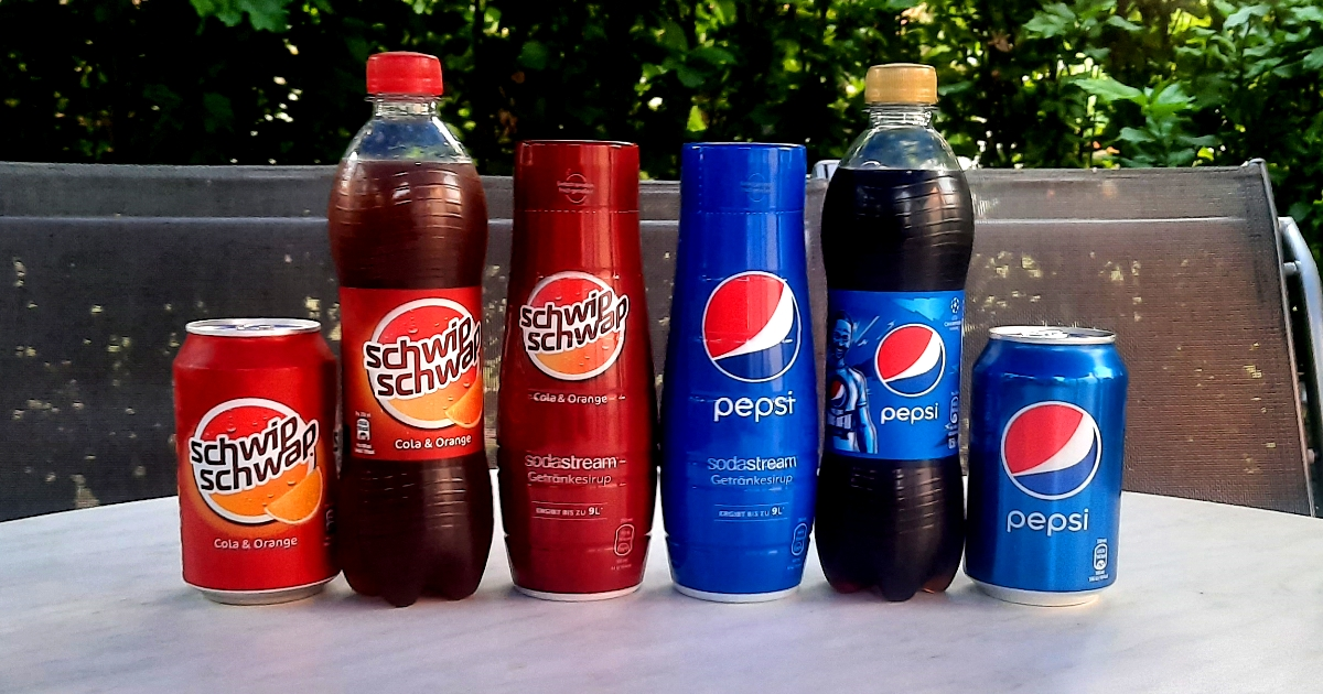 SodaStream Pepsi + Schwip Schwap Sirup Taste Test - titelbild
