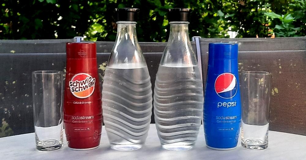 SodaStream Schwip Schwap + Pepsi Flaschen leer