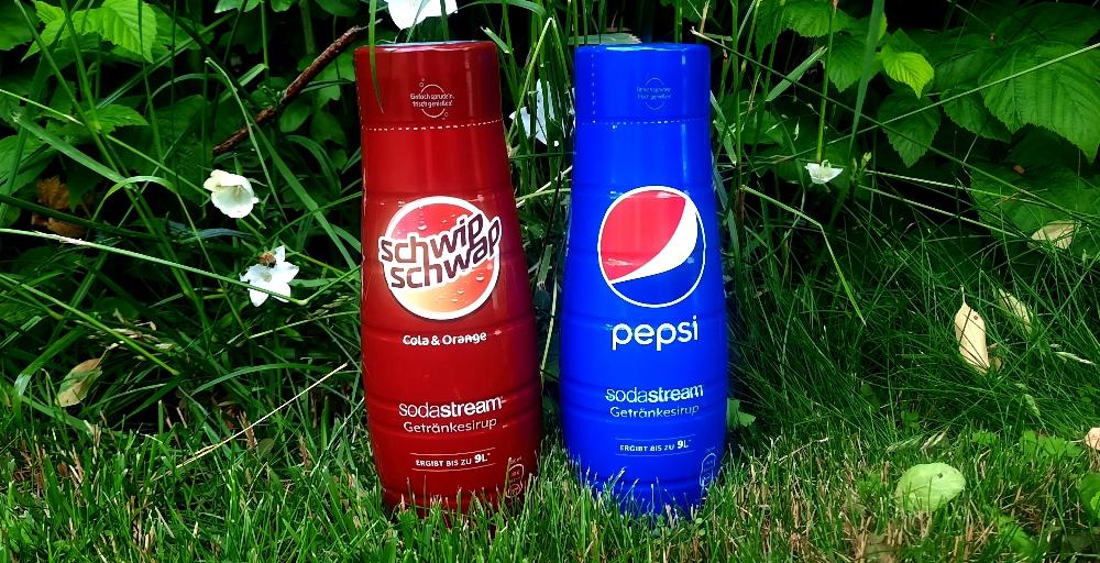 SodaStream Schwip Schwap + Pepsi Sirup Flaschen