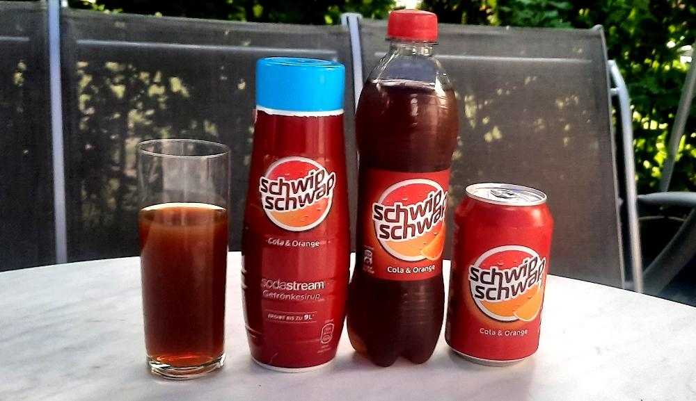 SodaStream Schwip Schwap Sirup vs Flasche und Dose