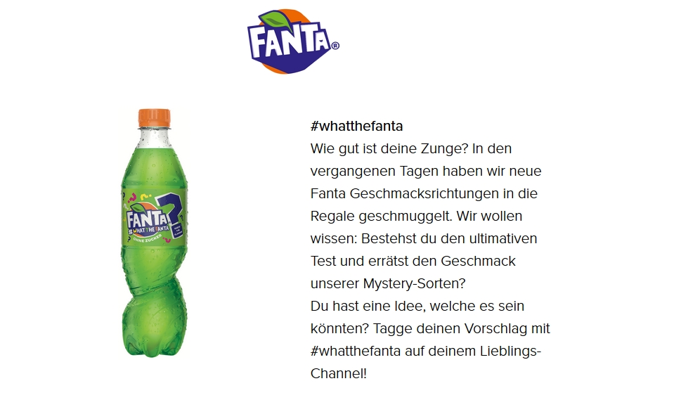 What the Fanta website
