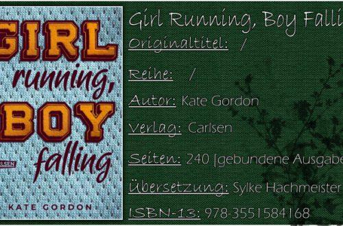 Girl Running, Boy Falling von Kate Gordon